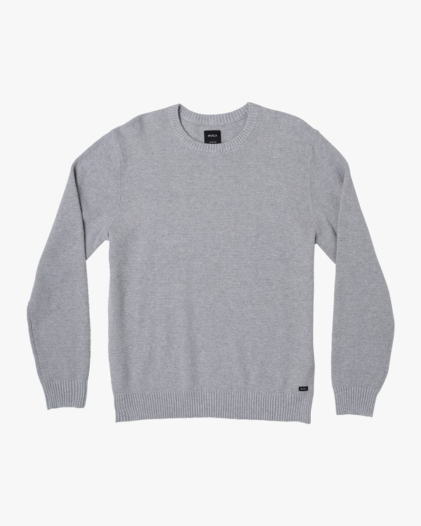 0 Duke Textured Knit Sweater Grey MV30WRDU RVCA