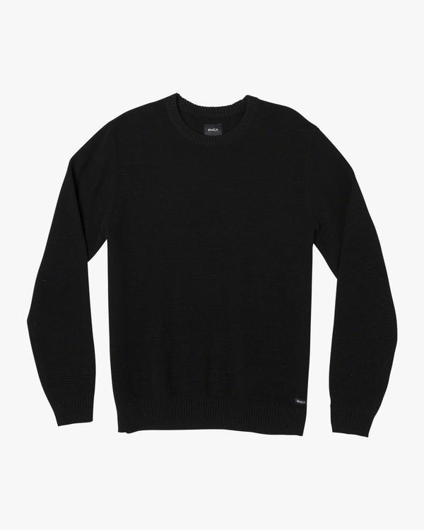 0 Duke Textured Knit Sweater Orange MV30WRDU RVCA