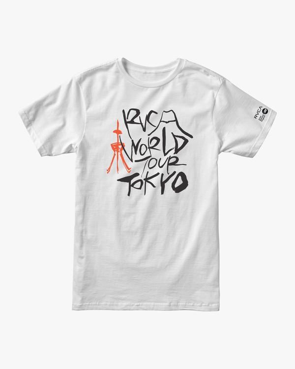 0 Ukyo Tokyo - Maglietta da Uomo White Q1SSTERVF9 RVCA