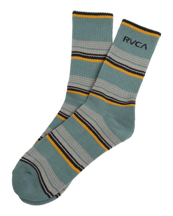 0 Rvca Seasonal Sock Green R105602 RVCA