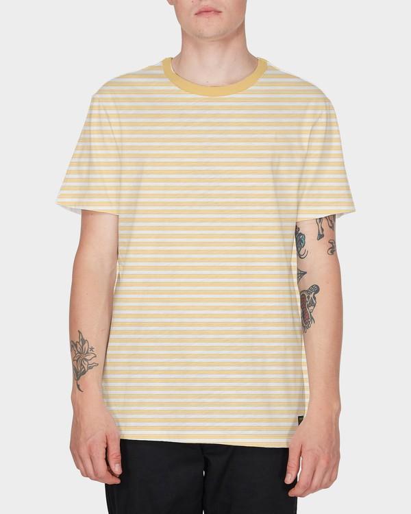 0 RVCA Tri Stripe Short Sleeve T-Shirt  R182079 RVCA