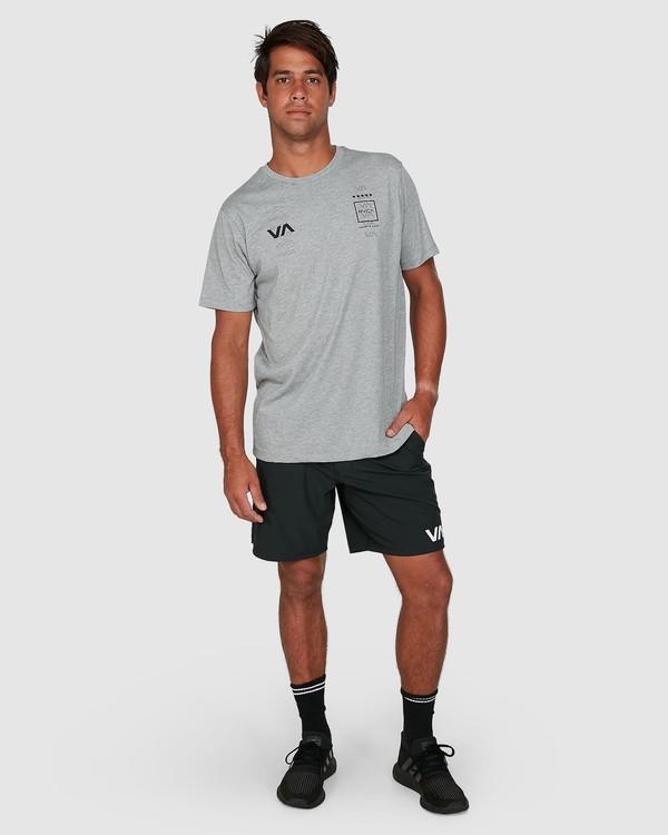 0 Double Down Short Sleeve Tee Grey R305043 RVCA