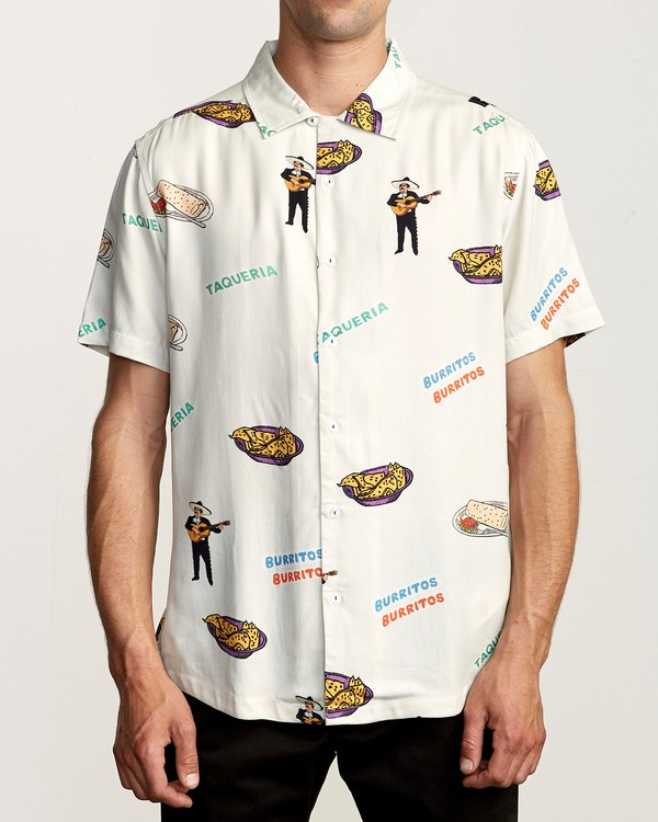 0 Hot Fudge Short Sleeve Shirt White R307193 RVCA