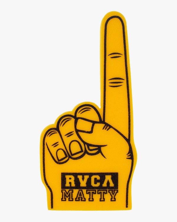 0 Matty Foam Finger Yellow R315602 RVCA