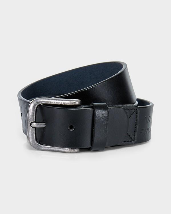 0 Truce Leather Belt Black R382633 RVCA