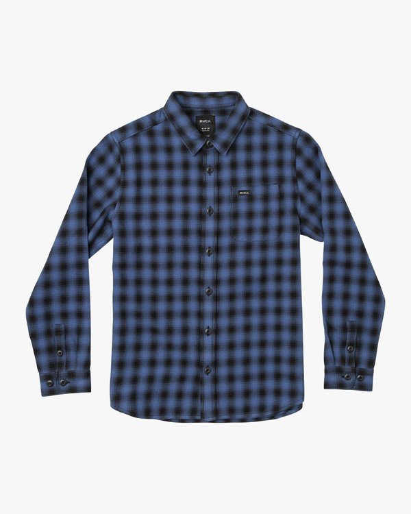 0 Telegraph Long Sleeve Shirt Blue R607181 RVCA