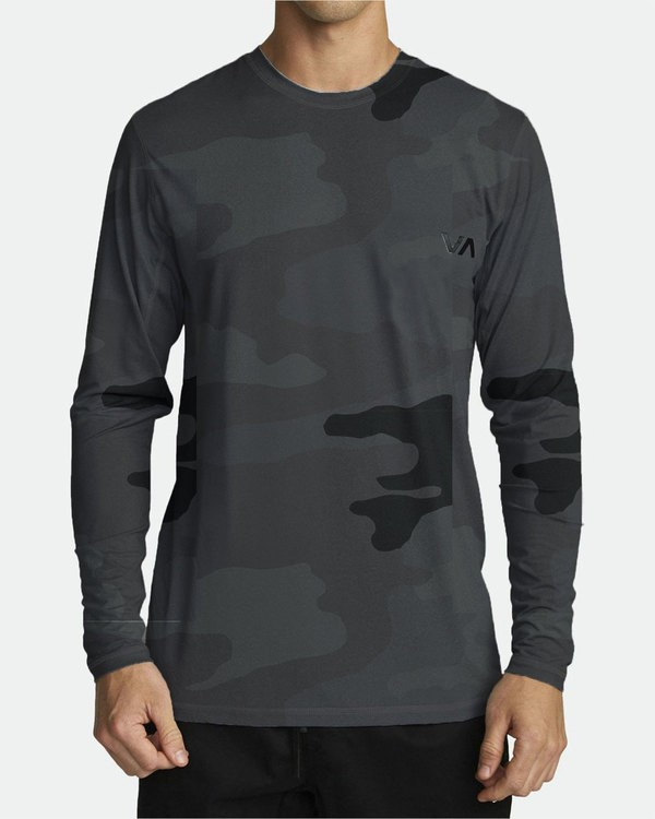 0 Sport Vent - Athletic Long Sleeve T-Shirt for Men Camo S4KTMCRVP0 RVCA
