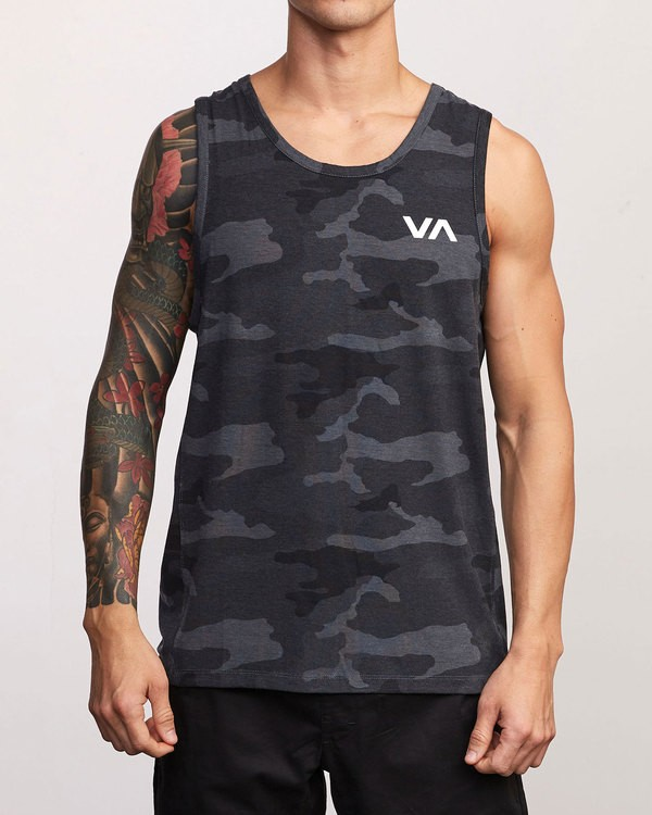 0 Sport Vent - Athletic Tank Top for Men Camo S4KTMERVP0 RVCA