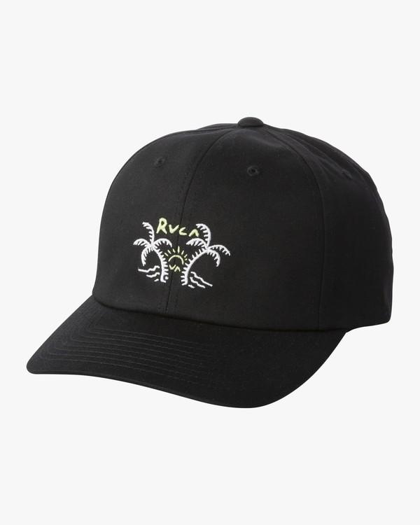 0 Palm Life Cap - Strap Back Hat for Men Black S5CPRGRVP0 RVCA