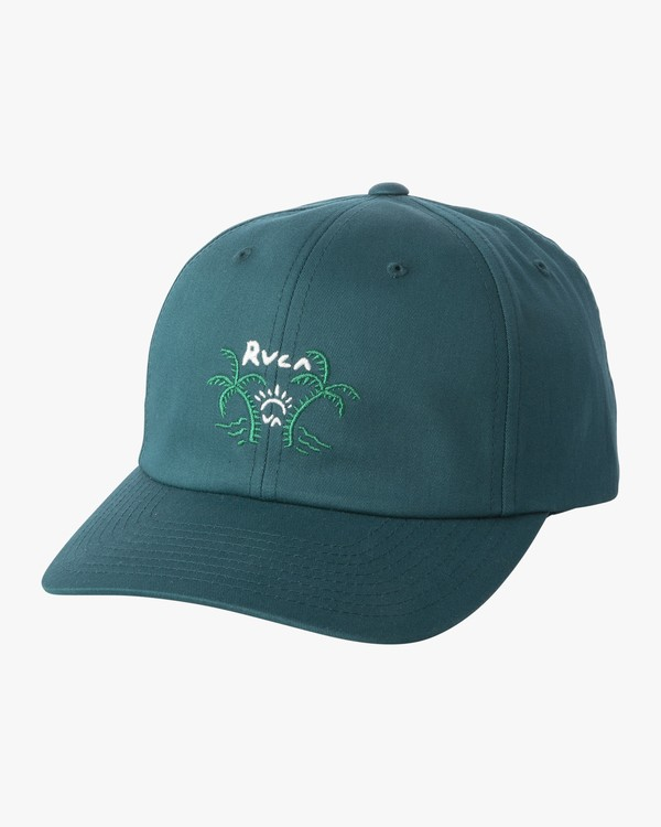 0 Palm Life Cap - Strap Back Hat for Men Green S5CPRGRVP0 RVCA