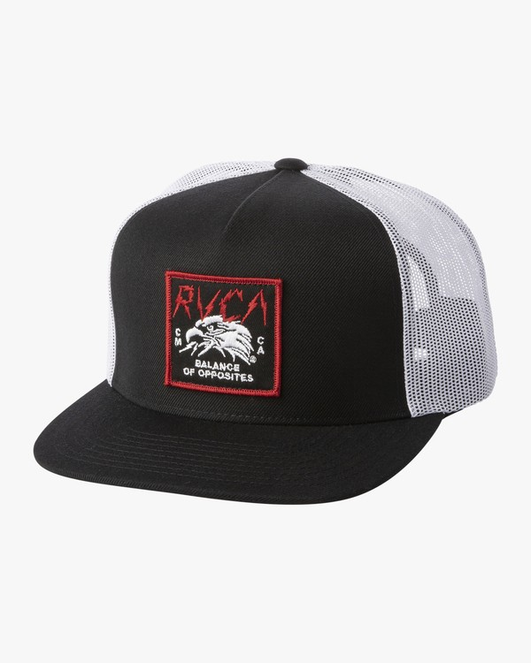 0 Strike - Trucker Hat for Men Black S5CPRKRVP0 RVCA