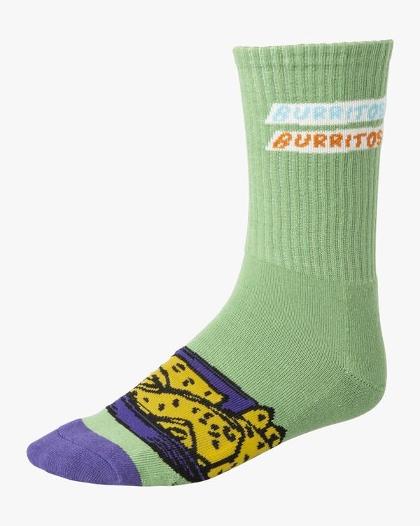 0 Hot Fudge - Art Socks for Men Green S5SORARVP0 RVCA
