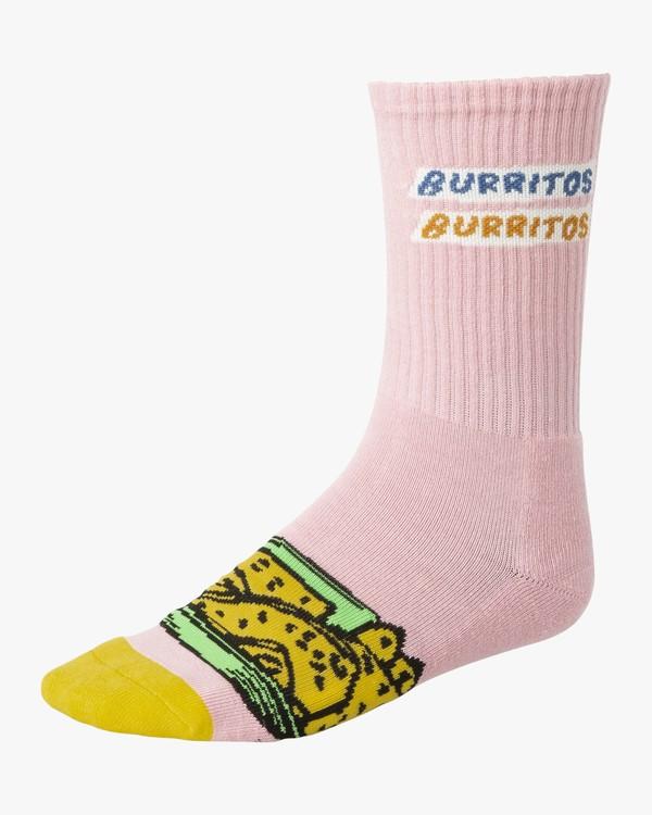 0 Hot Fudge - Art Socks for Men Pink S5SORARVP0 RVCA
