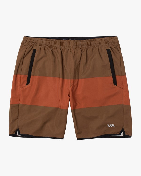 "0 YOGGER STRETCH ATHLETIC SHORTS 17"" Brown V2103RYS RVCA"