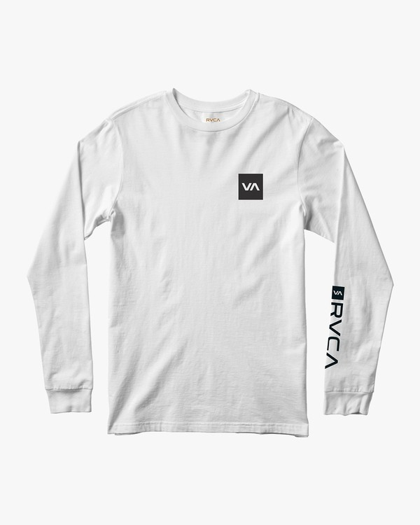0 RVCA Reverted Long Sleeve T-Shirt White V451TRRR RVCA