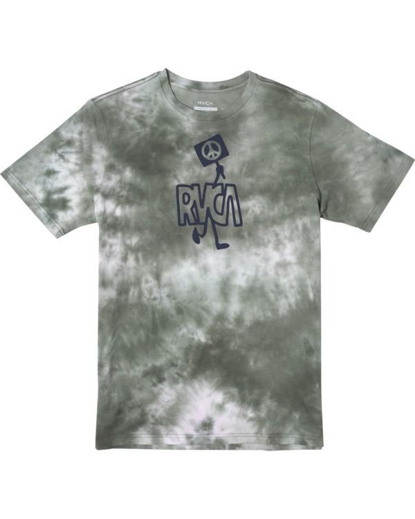 0 Peace Out - T-shirt pour Homme Vert W1SSRXRVP1 RVCA