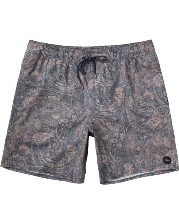 """0 Barnes 17"""" - Elasticated Shorts for Men Green W1VORGRVP1 RVCA"""
