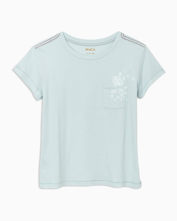 0 Hi Biscus T-Shirt Blue W404TRHS RVCA