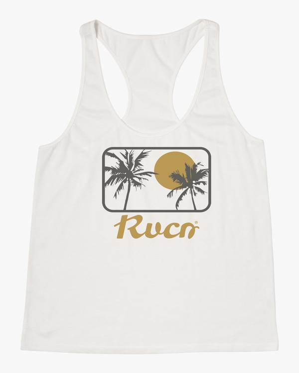0 PALM RANCH TANK White W4812RPR RVCA
