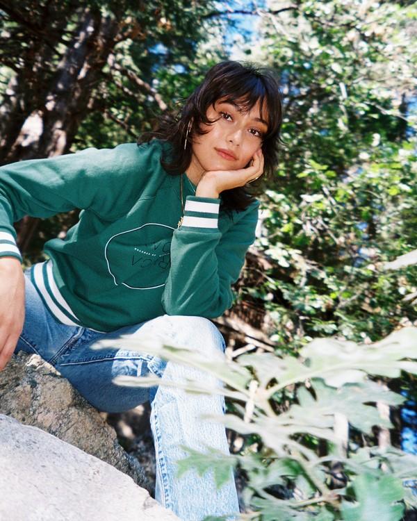 0 Century Raglan Sweatshirt Green W637WRCE RVCA