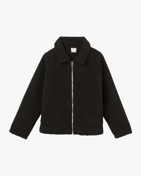 0 Ted Sherpa Jacket Black W707SRTS RVCA