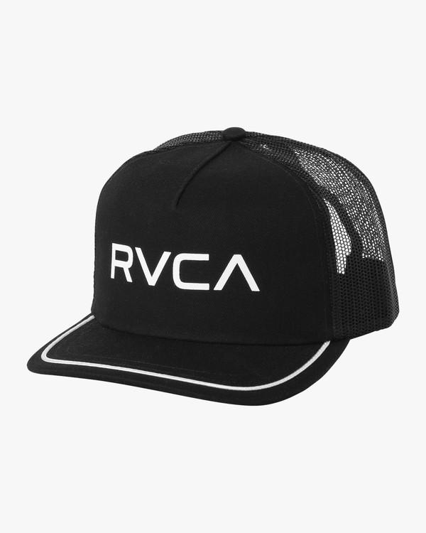 0 Title Trucker Hat Black WAHWNRTI RVCA