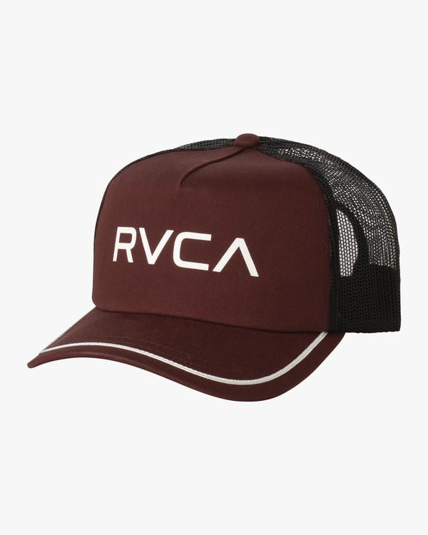 0 Title Trucker Hat Pink WAHWNRTI RVCA