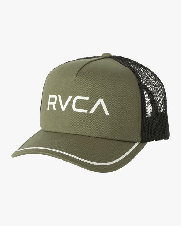 0 Title Trucker Hat Green WAHWNRTI RVCA