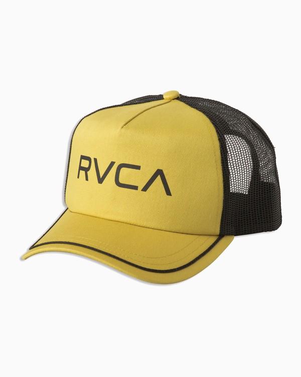 0 Title Trucker Hat Yellow WAHWNRTI RVCA