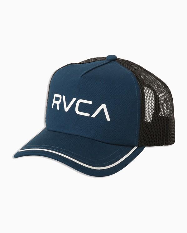 0 Title Trucker Hat Blue WAHWNRTI RVCA