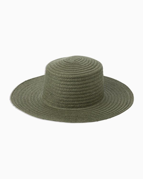 0 Lights Out Straw Hat Green WAHWTRLI RVCA