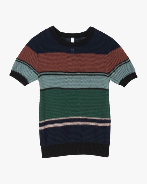 0 Brightside Striped Sweater Blue WLVV04BR RVCA