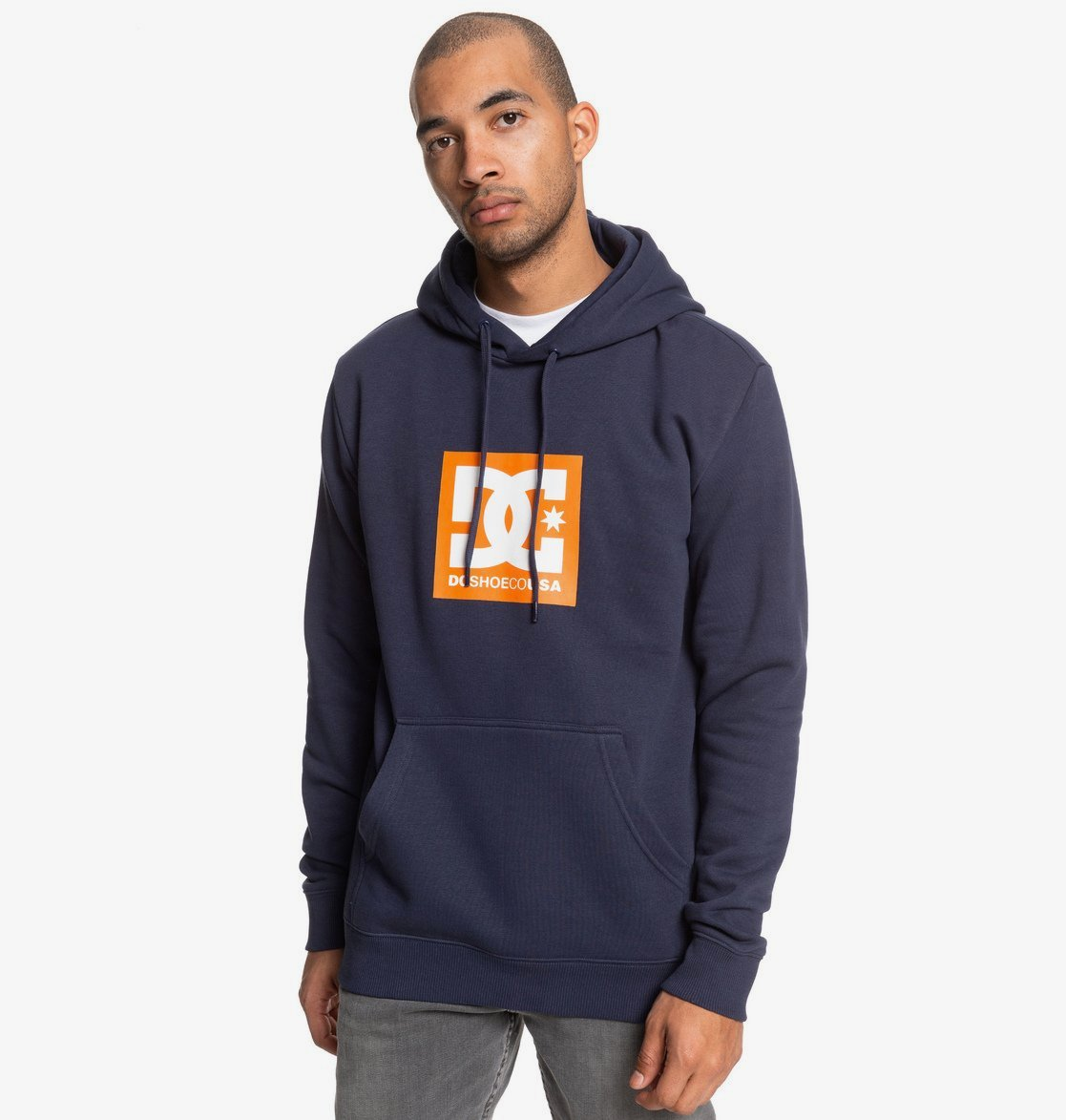 DC Square Star Pullover Hoody New Black