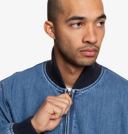 Tfunk Oversized Denim Bomber Jacket for Men