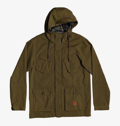 DC Mens Boxy Parka Jacket