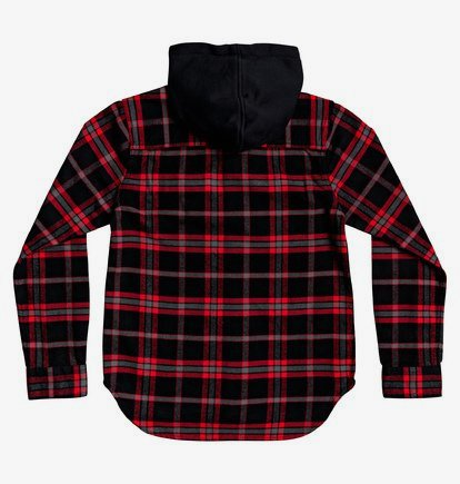 DC Shoes Boys Shoes Boys 8-16 Runnels Long Sleeve Hooded Flannel Shirt Edbwt03046