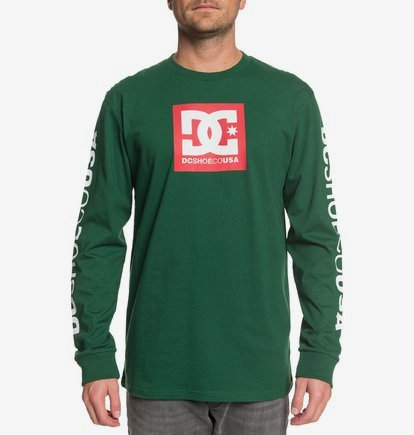DC Shoes Square Star-Camiseta de Manga Larga para Hombre