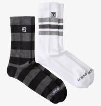 DC Stripe 2 Pack - Crew Socks for Men  ADYAA03142