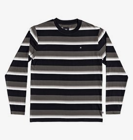 Wesley Stripes - Long Sleeve T-Shirt for Men  ADYKT03151
