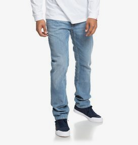 Worker Light Bleach - Straight Fit Jeans for Men  EDYDP03374