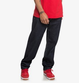 Worker Indigo Rinse - Relaxed Fit Jeans for Men  EDYDP03386