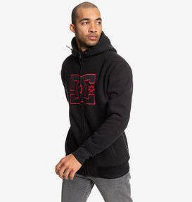 New Star - Sherpa-Lined Zip-Up Polar Fleece Hoodie for Men  EDYPF03037