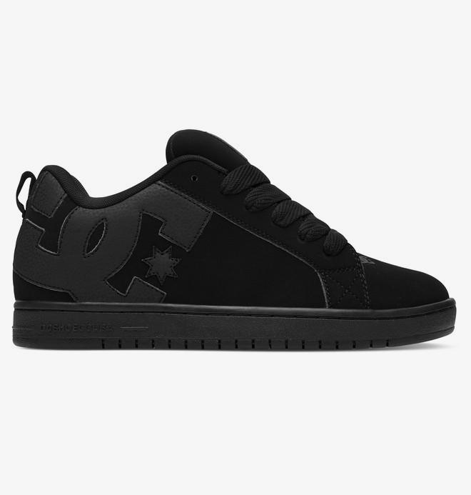 0 Court Graffik - Leather Shoes for Men Black 300529 DC Shoes