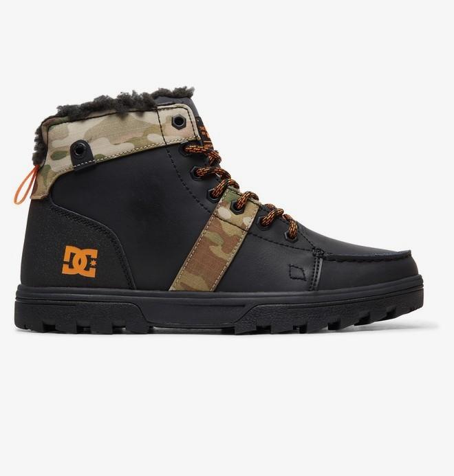 0 Woodland - Lace-Up Boots for Men Black 303241 DC Shoes