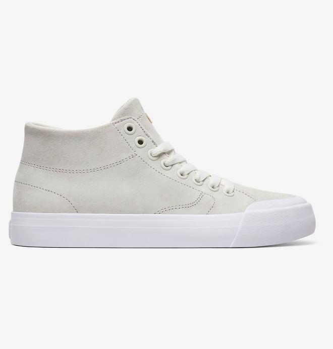 0 Evan Hi Zero - High-Top Leather Shoes for Women White ADJS300225 DC Shoes