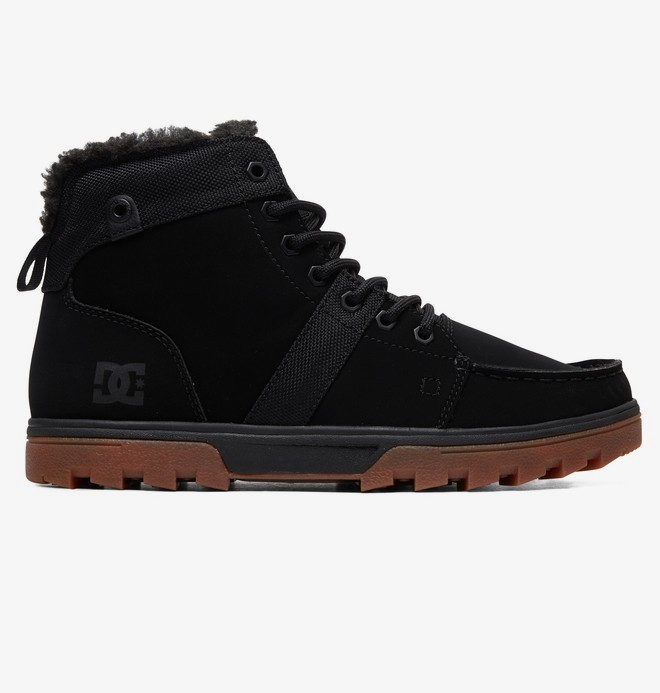 0 Woodland - Sherpa-Lined Winter Boots Black ADYB700027 DC Shoes