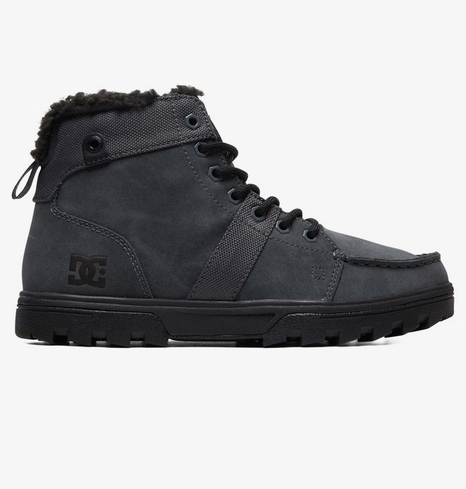0 Woodland - Sherpa-Lined Winter Boots Gray ADYB700027 DC Shoes
