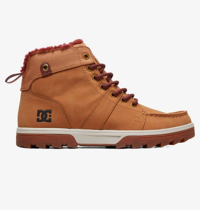 0 Woodland - Sherpa-Lined Winter Boots Brown ADYB700027 DC Shoes