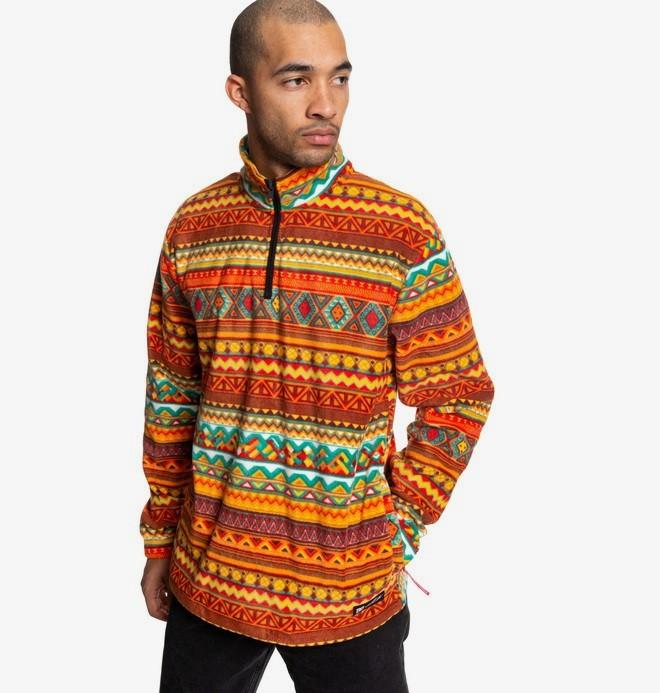 Tfunk - Half-Zip Mock Neck Fleece for Men  ADYPF03005