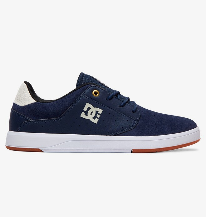 0 Plaza - Leather Shoes for Men Blue ADYS100401 DC Shoes